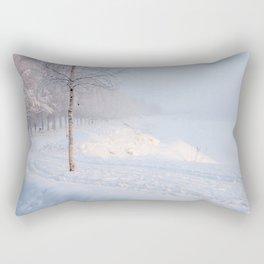Rovaniemi Walk. Rectangular Pillow