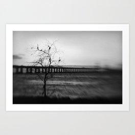 severn Crossing Lensbaby 03 - Severn Beach Art Print
