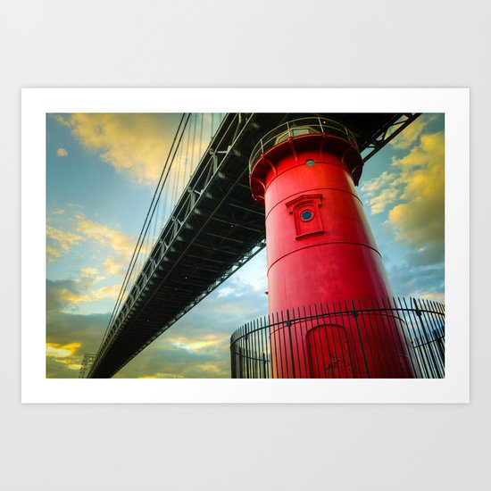 Little Red Lighthouse Art Print