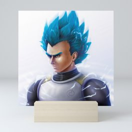Super Saiyn Blue Mini Art Print