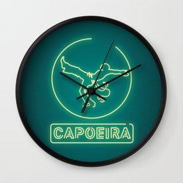 Neon capoeira Wall Clock