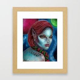 Apocolpyse Alien Girl Fantasy Art by Laurie Leigh Framed Art Print