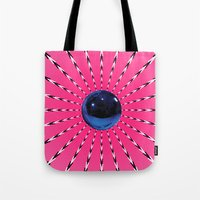 artrave Tote Bags featuring artRAVE Gazing Ball by ARTPOPdesigns