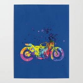 ap127-2 Motorcycle Poster