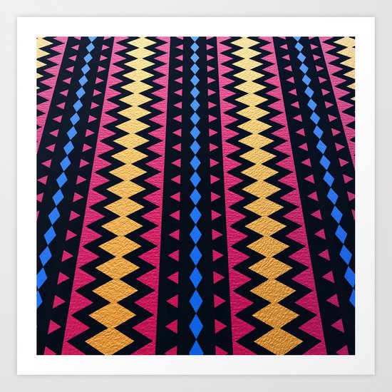 Aztec Pattern with Textured Appearance Art Print