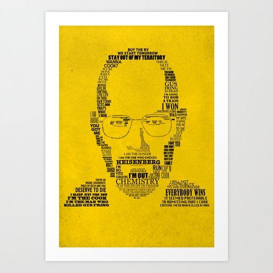 Breaking Bad:  Walter White Art Print