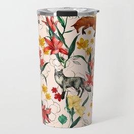 Floral Fox Travel Mug