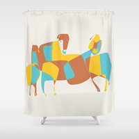 horses Shower Curtains featuring Horses by Pablo Correa