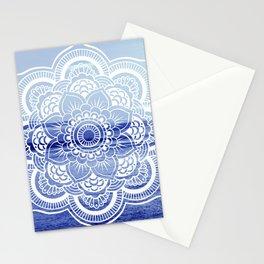 Water Mandala : Blue Stationery Cards
