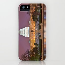 Glowing Washington DC Capitol iPhone Case