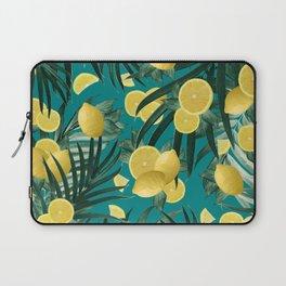 Summer Lemon Twist Jungle #5 #tropical #decor #art #society6 Laptop Sleeve
