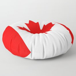 Canadian National flag, Authentic color and 3:5 scale version Floor Pillow