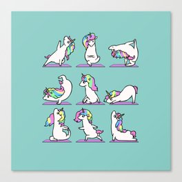 Unicorn Yoga Canvas Print