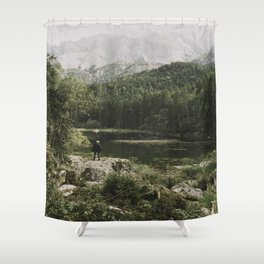 In silence - landscape photography Shower Curtain