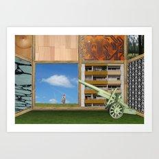 An der Schwelle zur Freiheit · a day with Magritte 2 Art Print