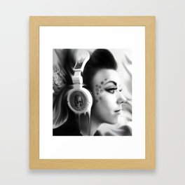Lost in Lyric, Drowning in sound.  Framed Art Print