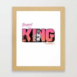 """The Victrs """"Respect The King""""  Framed Art Print"""
