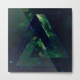 Impossible Triangle Galaxy Metal Print