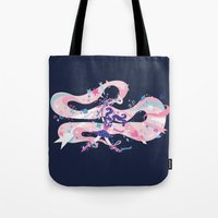 magical girl Tote Bags featuring magical girl by Kyungmi Park