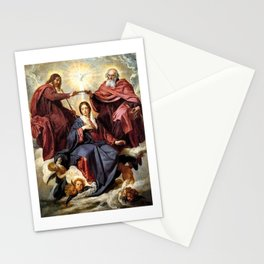 Coronation of the Virgin - Diego Velazquez Stationery Cards