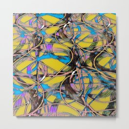 Abstract Design  with random shapes and markings 1 Metal Print