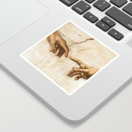 Michelangelo Creation of Adam Hands Sticker