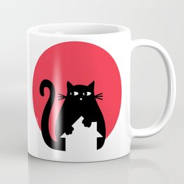 """Cat on the roof"" by Qora and Shaï Coffee Mug"