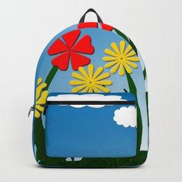 Naive nature scene Backpack