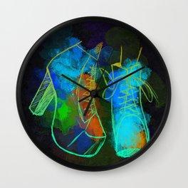 Color Shoes Wall Clock