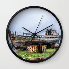 Remembering Better Days Wall Clock