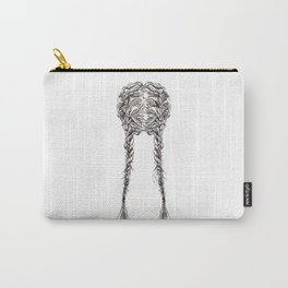 Parted French Braids Carry-All Pouch