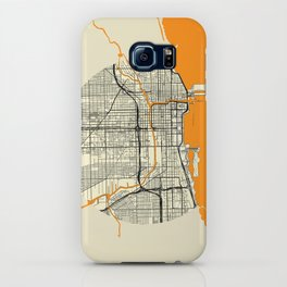 Chicago Map Moon iPhone Case