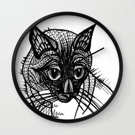 Miqo, the siames cat Wall Clock