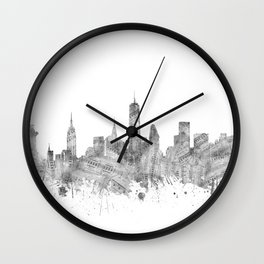 new york skyline music Wall Clock