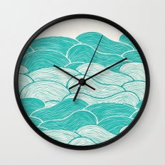 The Calm and Stormy Seas Wall Clock