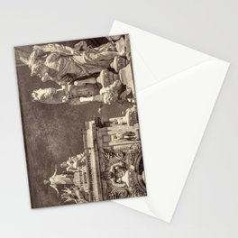 Sepia baroque sculptures in Lisbon Stationery Cards