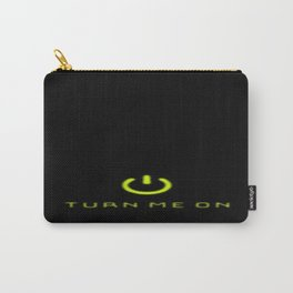 Turn Me On Yellow Carry-All Pouch
