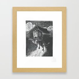 Wolf Going to Grandma's House Framed Art Print