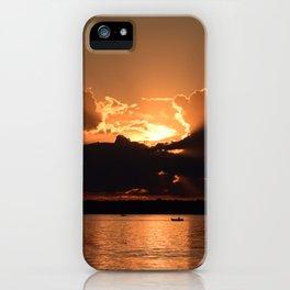 Fisherman Sunset iPhone Case