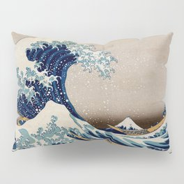 Under the Great Wave by Hokusai Pillow Sham