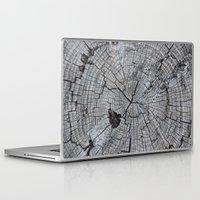 tree rings Laptop & iPad Skins featuring Rings by Elizabeth Velasquez