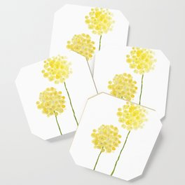 two abstract dandelions watercolor Coaster
