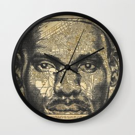 Cleveland City Map Wall Clock