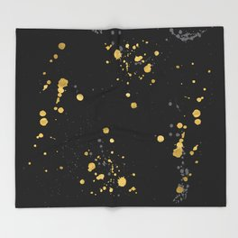 Golden Splats Throw Blanket