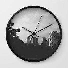 Sao Paulo Black and White Wall Clock