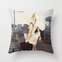 seoul Throw Pillows featuring Seoul tour  by MYLÈNE BRAGINA