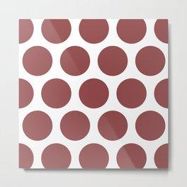 Large Polka Dots: Rustic Red Metal Print