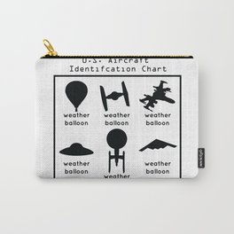 Funny U.S. Aircraft Identification Chart Carry-All Pouch