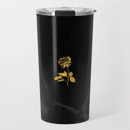 Forever Petal (Black Gold) Travel Mug