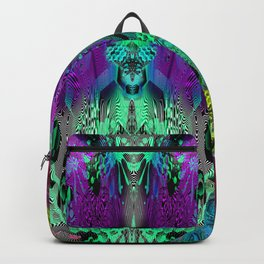 Sugar Skull and Girly Corks (psychedelic, abstract, halftone, op art) Backpack
